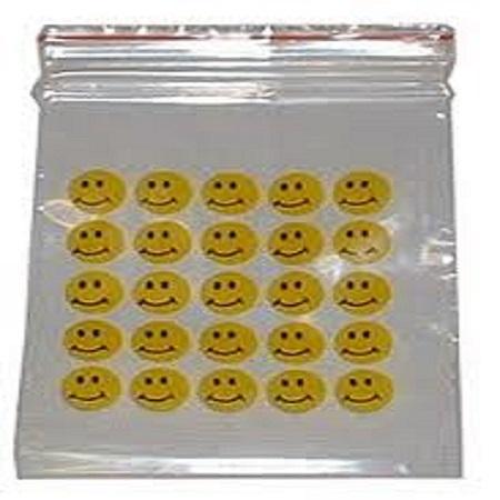 8cm x 10cm Printed Grip Seal Bags x 100
