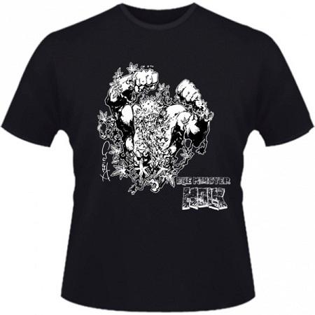 Hero Seeds Blue Monster Holk Men's Black T-Shirt