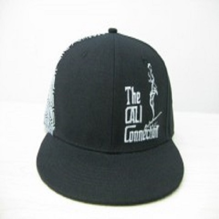 Cali Connection Snapback Cap Black Pattern