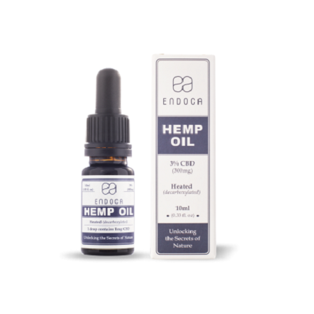 Endoca CBD Hemp Oil Drops 300mg (3%)