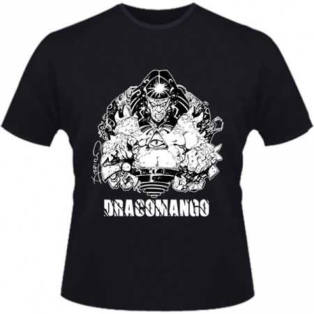 Hero Seeds Draconmango Men's Black T-Shirt