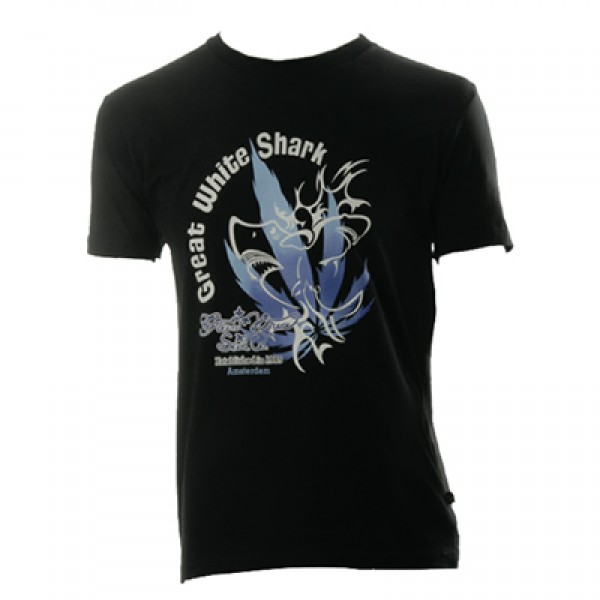 Green House Seed Co Great White Shark Black T-shirt