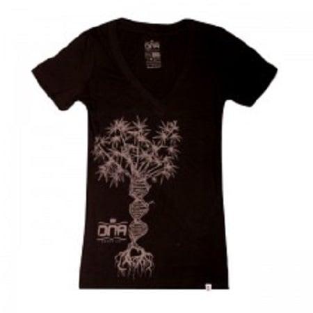 DNA Genetics Ladies Double Helix Tree T-Shirt