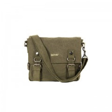 Small Hemp Shoulder Bag with Buckles