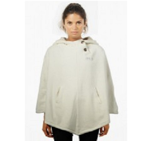 Hemp Hoodlamb Clothing Women's Furry Poncho