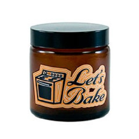 420 Let's Bake Amber Screw Top Jar