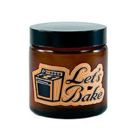 420 Let's Bake Amber Screw Top Jar
