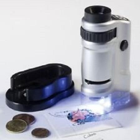 Basil Bush Table Mounted Pocket Sized Led Microscope