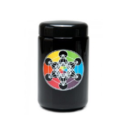 420 UV Stash Jar Metatron's Cube