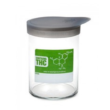 420 Soft Top Jar THC Molecule