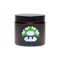 420 1 up Mushroom Amber Screw Top Jar
