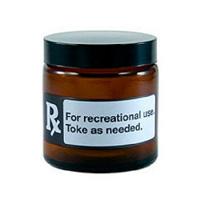 420 RX Black Amber Screw Top Jar