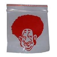 5cm x 5.5cm Printed Grip Seal Bags x 100