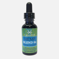 CannaWell Hemp Blend 6x Oil, Full Spectrum CO2 Extracted Hemp