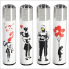 Graffiti Clipper Lighter Banksy Design Limited Edition