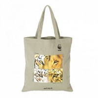 WWF Big Cats Hemp Shopper Bag